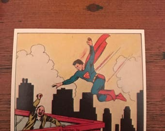 Complete set of 1984 Superman Gum Cards - all 72 cards in MINT condition!