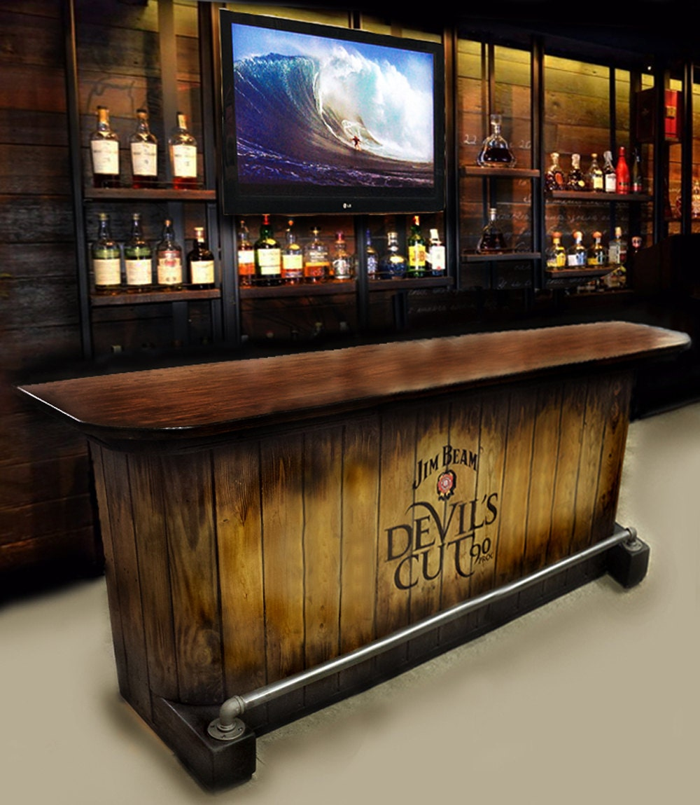 home bar custom hand built rustic whiskey pub man cave barn u ship built to order. Black Bedroom Furniture Sets. Home Design Ideas