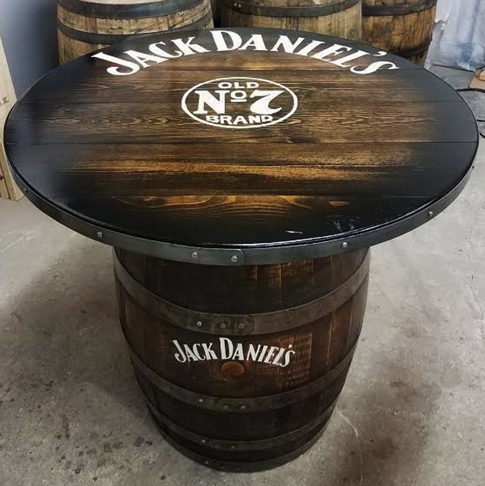 SOLD OUT Customizable Whiskey Barrel Pub Table, Game Table, Poker Man Cave  Bourbon Home Bar Table , Personalized Logos U0026 Artwork