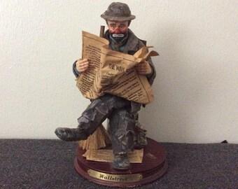 "Emmit Kelly Jr limited edition figurine ""Wallstreet"""