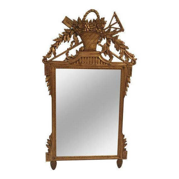 Antique Italian Victorian mirror with beautiful Gold Leaf detail