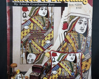 Queen of Stitching Cross Stitch and Needlepoint Playing Cards Booklet Instructions by Linda Gordanier Jary
