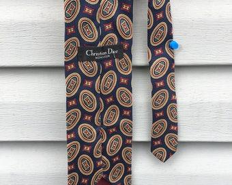 Christian Dior Monsieur Silk Vintage Tie / Mens / accessories