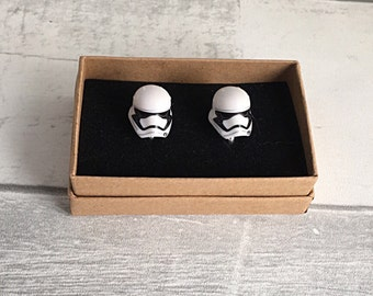 Star Wars Cufflinks, Star Wars first order, unusual cufflinks, storm trooper cufflinks, Star Wars accessory, geek gift, mens gift