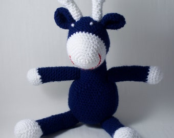 Crochet Giraffe Toy - Denim
