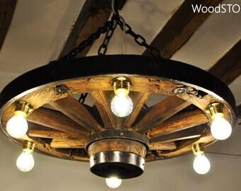 wagon wheel chandelier - Wagon Wheel Chandelier
