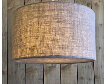 Taupe Color Hessian Light Shade & Hessian Diffuser 25cm 30cm 35cm 40cm 45cm 50cm 60cm 70cm FREE UK SHIPPING