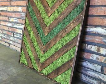 Chevron Moss Wall