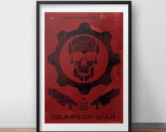 Gears Of War - 'In Gears We Trust' Video Game Poster