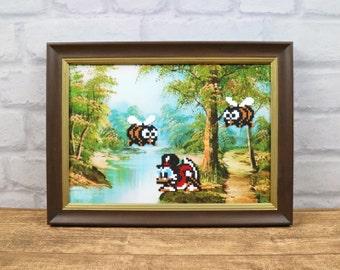 Duck Tales, Scrooge, Pixel Art, Game Art, 8 Bit Art, Reproduced Painting