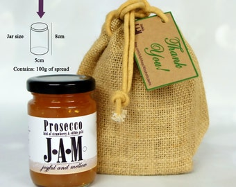 Unique Gift Bag of One (1 x 100g). Homemade Alcoholic Jams. Valentine's Day Gift. Unique Birthday Gift. Unique gift. Gift for friend.