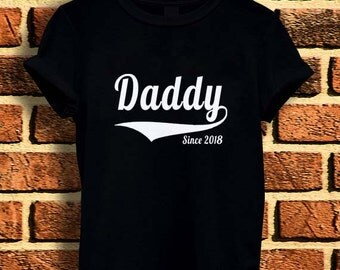 New Daddy 2018 happy father day t shirt tee men