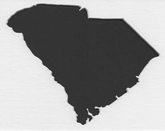Pack of 3 South Carolina State Stencils Made From 4 Ply Mat Board 11x14, 8x10 and 5x7
