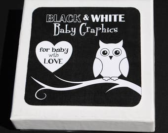 Black & White Baby Graphics - Infant Visual Stimulation Art