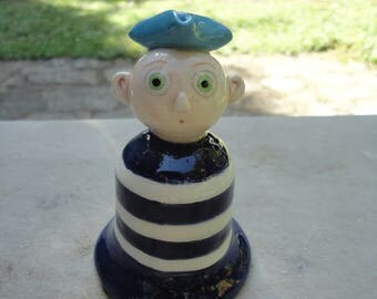 Ceramic bell- sailor bell-100% Handmade- Home Decor