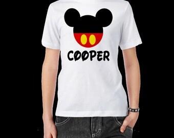 Boys Personalized Mickey T-Shirt