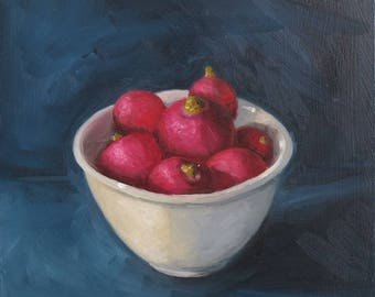 Bowl of radishes