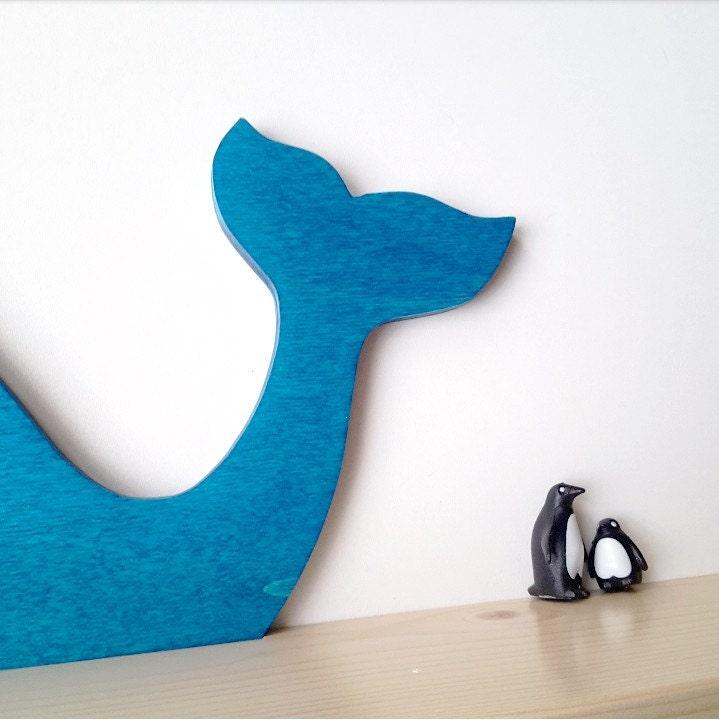 tag re murale baleine bleue chambre b b enfant id e. Black Bedroom Furniture Sets. Home Design Ideas