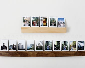 Tall, Wood Photo Display, Wall Photo Holder, Fuji Instax Display, Instax Display, Photo Display, Picture Holder, Wood Picture Frame, Wedding