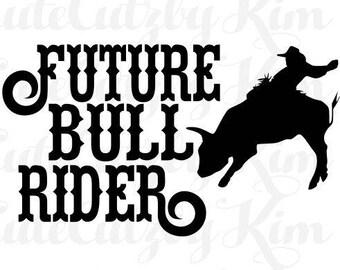 Future Bull Rider svg
