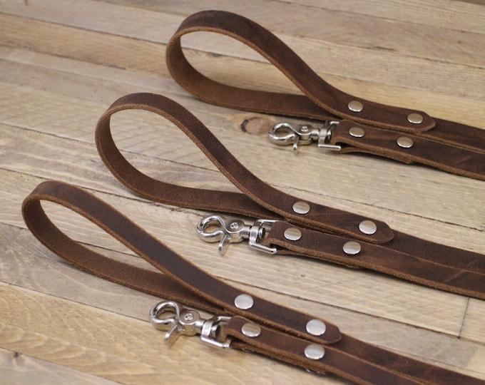 Handmade leash, Leash, Dark coffee leash, Pet gift, Leather leash, Strong leash, Leather leash, Strong lead, Sturdy leash.