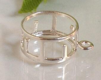 Sterling Silver Round Shaped Back-Set Bezel Dangle (6, 6.5, 7 & 8mm). 265-310
