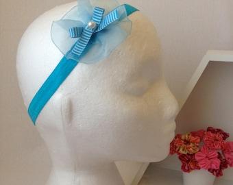 Blue Flower Headband
