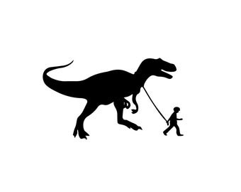 "Banksy ""Pet Dinosaur"" Decal - Banksy Decal / Banksy Sticker / Wall Stickers"