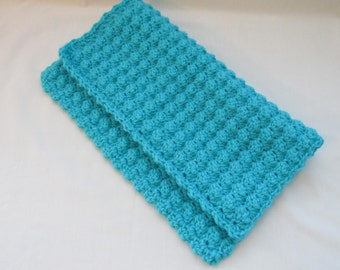 Baby Security Blanket Teal - Crochet