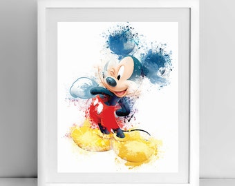 Mickey Mouse, Walt Disney, 8x10 inches, 11x14 inches