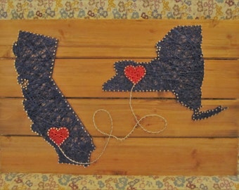 State or Country String Art - Made to Order