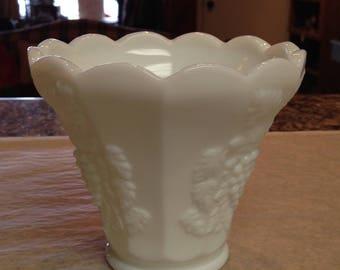 Milk Glass Flower Vase