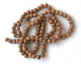 Double Strand of 8 mm Benchwork Glass Beads - Tan (2050)