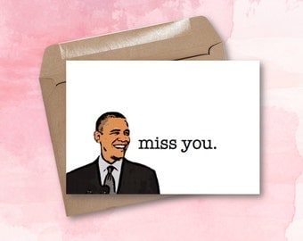 Greeting Card - Miss You, Barry