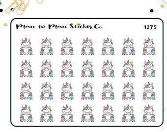 1275~~Unicorn Retail Therapy Planner Stickers.