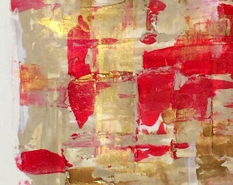Lucky no. 8 - Abstract Acrylic Pallet Knife Painting