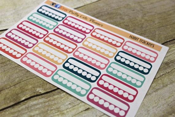 Planner Stickers / Habit Tracker /Weekly Habit Tracker / Planner Stickers / ECLP Stickers / Happy Planner / Side Bar Sticker / Daily Habits