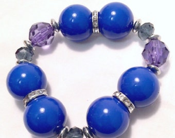 Royal Blue Balls - Bracelet - Adazzle4U Fashion with Style Jewelry