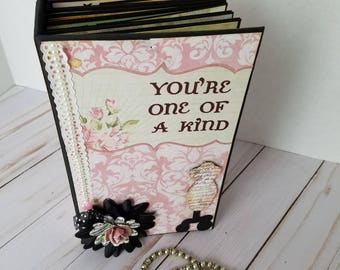 Handmade scrapbook mini album - You're one of a kind