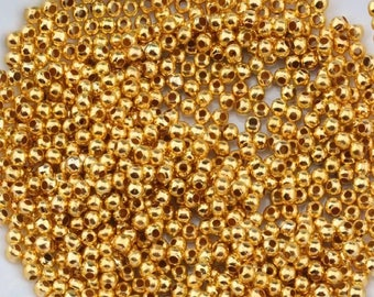 Spacer Beads, Silver Spacer Beads, Gold Spacer Beads, Silver Plated Spacer Beads, 3mm Beads, Gold Beads, Small Silver Beads, 3mm Gold