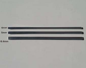 "Cuff Blank - .2x6"" (5x152.4mm) 10 pieces. 16 gauge. Aluminum stamping blank. Bracelet blank. Metal blank. Metal stamping blank."