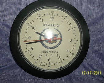 cadillac wall clock