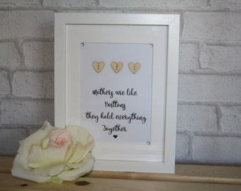 Mums are like buttons, they hold everything together / mums like buttons quote / gift for our mum