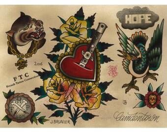 Tattoo Flash FLICKNIFE Julien BRUNIER