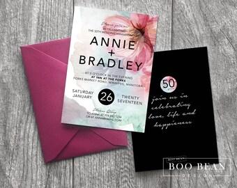 Floral Surprise Birthday Invitation | Printable Invitation |  Anniversary Invitation | Surprise Anniversary Invitation | Surprise Birthday