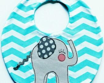 Handmade baby boy/girl elephant bib