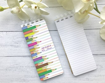 Spiral Bound Note Pads, To-Do List, Personalized Note Pads, Grocery List Pads, Lined Paper, Teacher Gift, Teacher Notepad, Kids Notepad