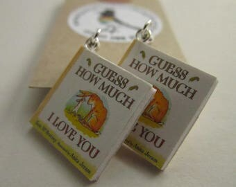 "Guess How Much I Love You  Book Earrings from ""The Earring Library"""