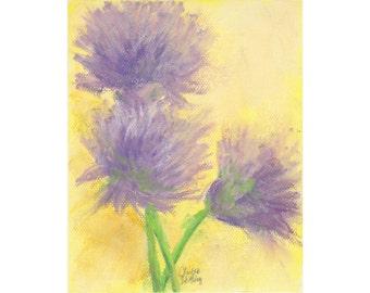 Chive Blossoms  - original artwork