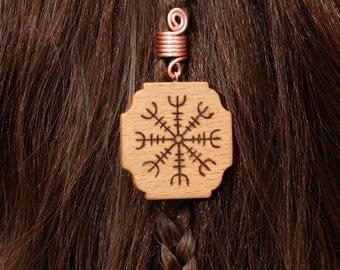 Viking Runes Beads Goldtone 8